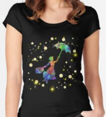 Mary Poppins- The Magical Nanny Women's Fitted Scoop T-Shirt