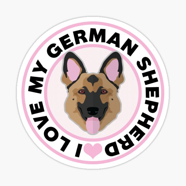 Love My German Shepherd Sticker