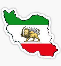 Iran Map With Iranian Flag Sticker