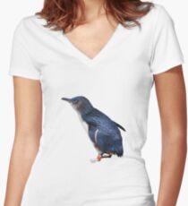Fairy Penguin Women's Fitted V-Neck T-Shirt