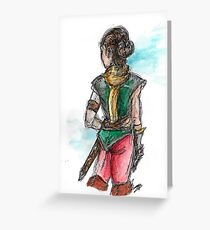 Lady adventurer Greeting Card
