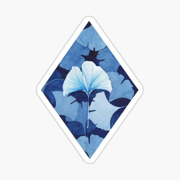 Ginkgo bleu Sticker