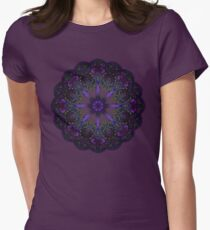 Fractal Mandala Womens Fitted T-Shirt