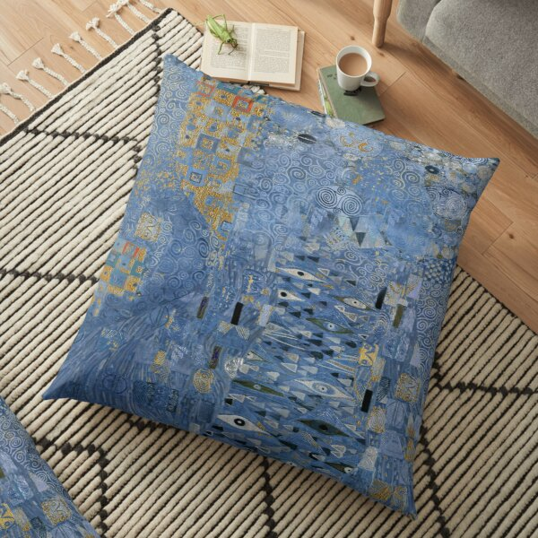 Klimt alone during night-time without Adele. Sad. Floor Pillow