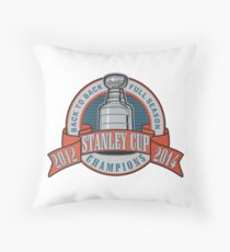 Back to Back Full Season Champions - Retro (Stitched) Throw Pillow