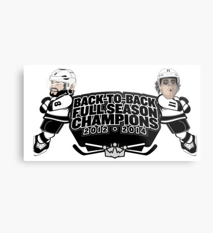Back to Back Full Season Champions - Cartoon Metal Print