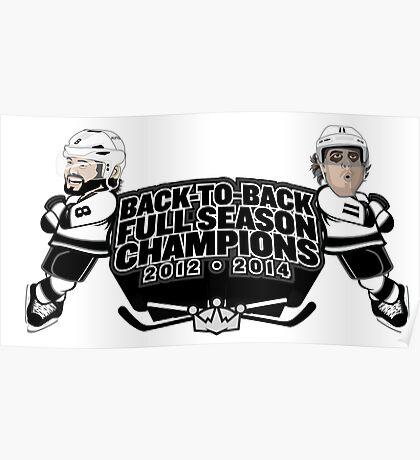 Back to Back Full Season Champions - Cartoon Poster