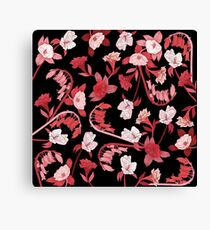 Alstroemeria, Bluebell and Camellia Japonica Canvas Print