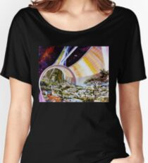 Space Colony Sci Fi Women's Relaxed Fit T-Shirt