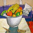 still life with fruit by Evelyn Bach