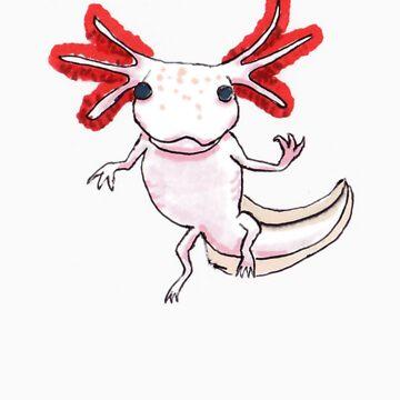 Axolotl Floating by Ensis02