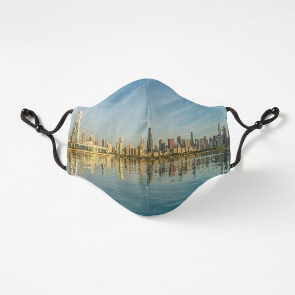 Hazy Golden Chicago Skyline Fitted 3-Layer