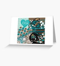 Coastal Carolina University Collage Greeting Card