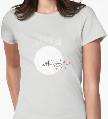 Oriental Swallows And The Bright Round Moon T-Shirt