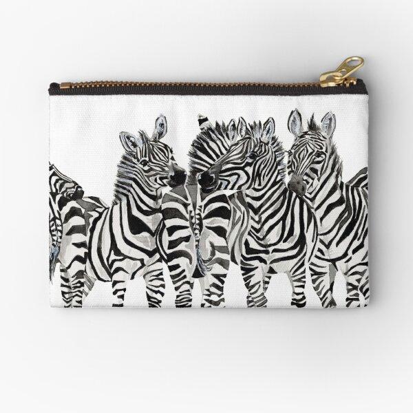 Zebra Butts Watercolor Zipper Pouch