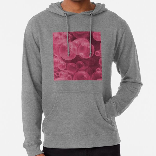 Large Pink Water Air Bubbles Lightweight Hoodie