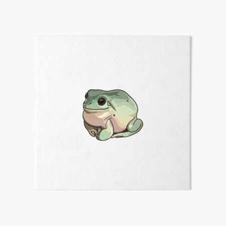 Thick round milky frog Art Board Print