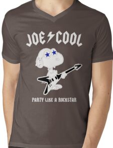Snoopy Joe Cool Rock Mens V-Neck T-Shirt