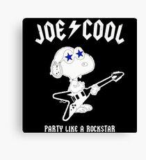 Snoopy Joe Cool Rock Canvas Print