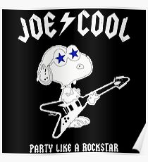 Snoopy Joe Cool Rock Poster