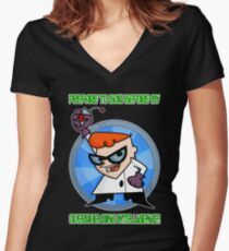 Dexter's Laboratory  Women's Fitted V-Neck T-Shirt