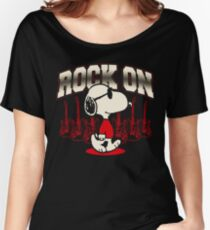 Snoopy Rock Women's Relaxed Fit T-Shirt
