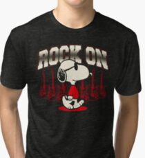 Snoopy Rock Tri-blend T-Shirt