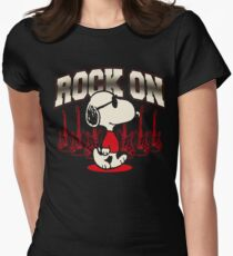 Snoopy Rock Women's Fitted T-Shirt
