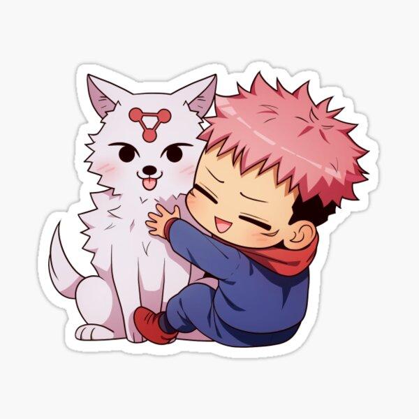 Jujutsu Kaisen - Itadori with a dog (11/14) Sticker
