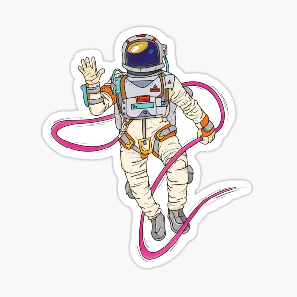 Spaceman / Astronaut - Spaced Out Design Sticker