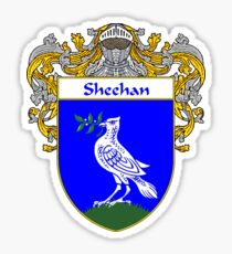 Sheehan Coat of Arms / Sheehan Family Crest Sticker