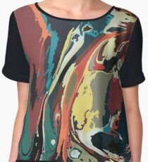 Ink marble texture Women's Chiffon Top