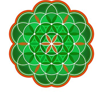 Flower of Life - green version by SoulStructures