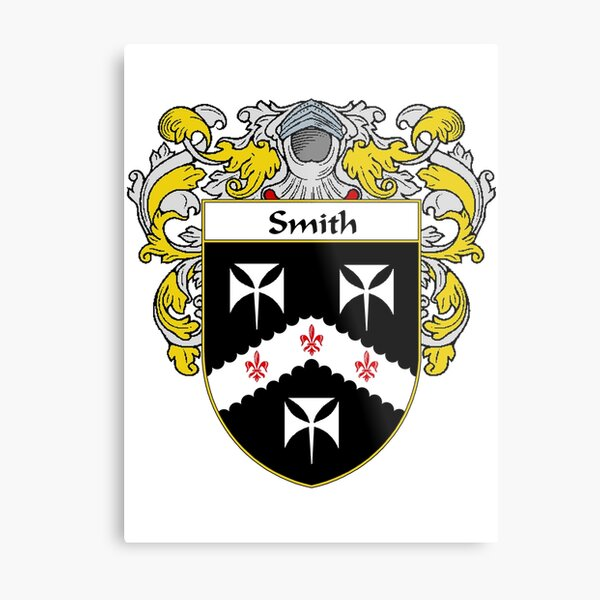 Smith Coat of Arms / Smith Family Crest Metal Print