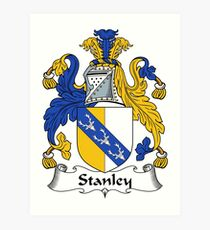Stanley Coat of Arms / Stanley Family Crest Art Print