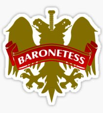 The Baronetess Coat-of-Arms Sticker