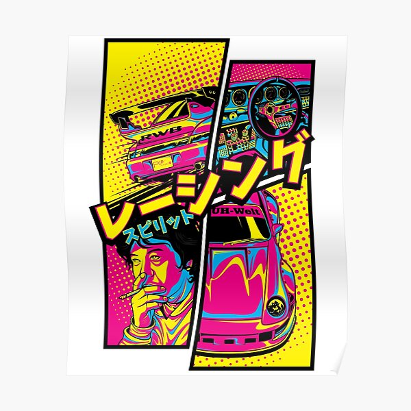 RWB 993 Manga style Poster