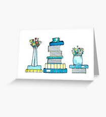 Tulips & Books Greeting Card