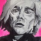 Andy Warhol acrylic on paper by Sarah Horsman