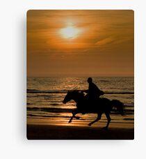 Ride at sunset Leinwanddruck