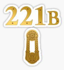 "Sherlock Holmes ""221B"" Sticker"