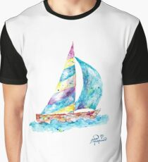 Sailboat no splots by Jan Marvin Graphic T-Shirt