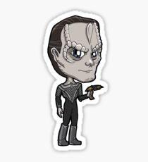 Star Trek DS9 - Gul Dukat Cardassian with Disrupter Pistol Chibi Sticker Sticker