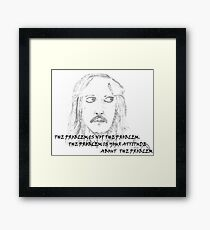 Jack Sparrow with Quote Framed Print