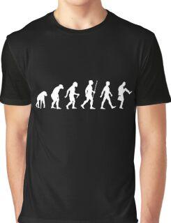 Evolution of Man (White Version) Graphic T-Shirt