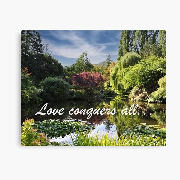 Love Conquers All: Butchart Gardens Pond Canvas Print