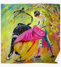 Bullfighting in Neon Light 01 Poster
