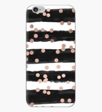 Girly Rose Gold Konfetti schwarz Aquarell Streifen iPhone-Hülle & Cover