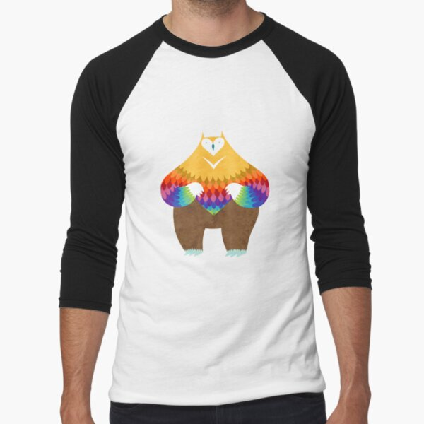 OwlBear Baseball ¾ Sleeve T-Shirt