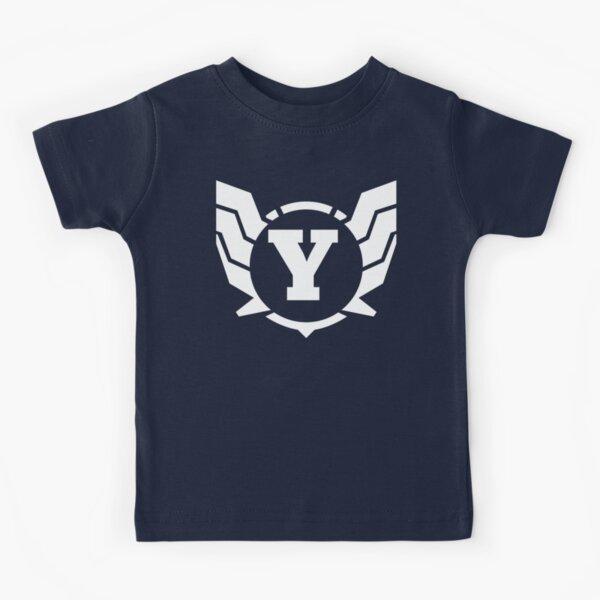 Superhero Letter Y. Power of Wings Kids T-Shirt